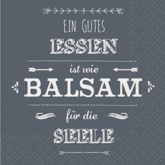 Servietten Ein gutes Essen ist wie Balsam für die Seele