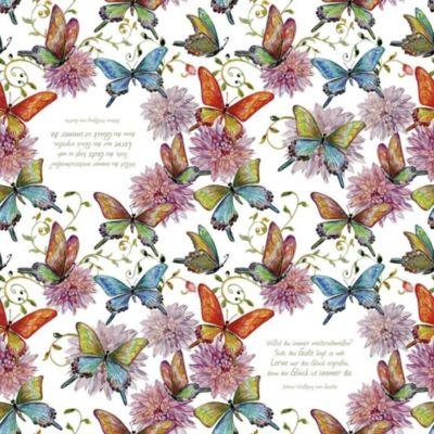 Servietten »Schmetterlinge«, Johann Wolfgang von Goethe