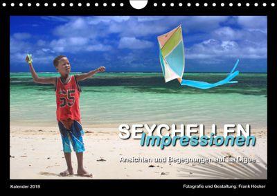 Seychellen Impressionen - Ansichten und Begegnungen auf La Digue (Wandkalender 2019 DIN A4 quer), Frank Höcker