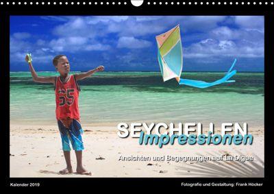 Seychellen Impressionen - Ansichten und Begegnungen auf La Digue (Wandkalender 2019 DIN A3 quer), Frank Höcker