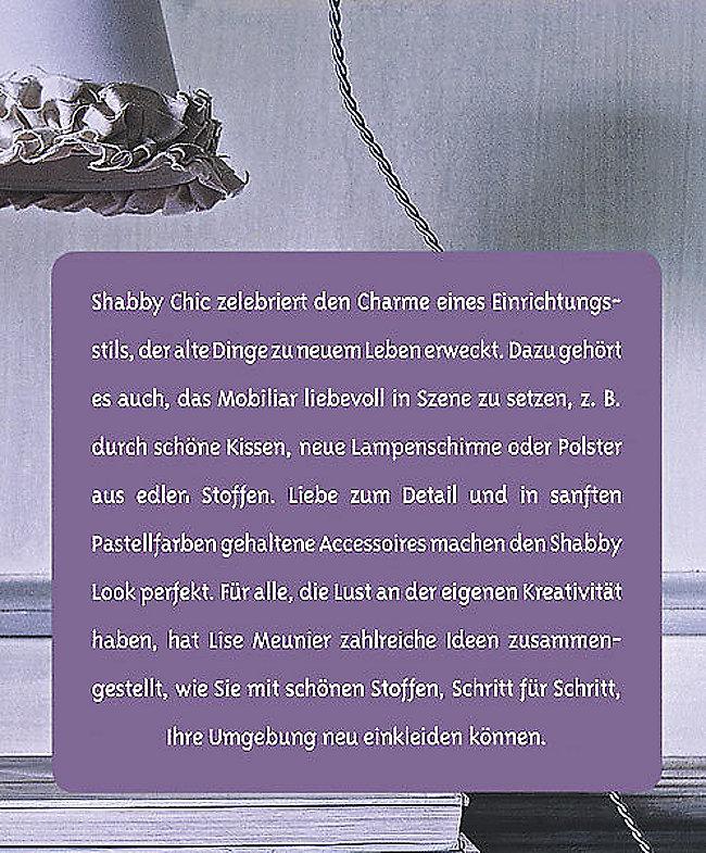 Shabby Nähen Buch Von Lise Meunier Bei Weltbild.de Bestellen