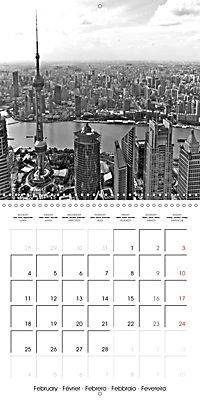 Shanghai Impressions in Black and White (Wall Calendar 2019 300 × 300 mm Square) - Produktdetailbild 2