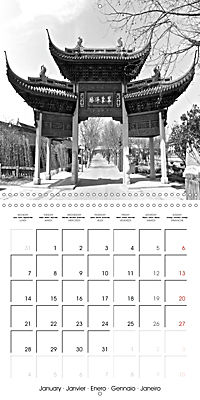 Shanghai Impressions in Black and White (Wall Calendar 2019 300 × 300 mm Square) - Produktdetailbild 1