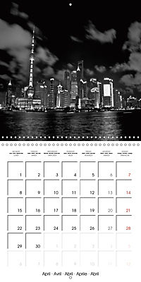 Shanghai Impressions in Black and White (Wall Calendar 2019 300 × 300 mm Square) - Produktdetailbild 4