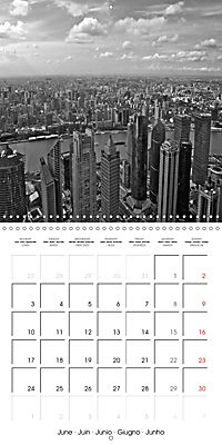 Shanghai Impressions in Black and White (Wall Calendar 2019 300 × 300 mm Square) - Produktdetailbild 6