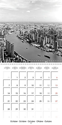 Shanghai Impressions in Black and White (Wall Calendar 2019 300 × 300 mm Square) - Produktdetailbild 10