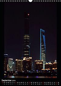 Shanghai Lujiazui Night Skyline (Wall Calendar 2019 DIN A3 Portrait) - Produktdetailbild 9