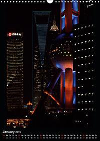 Shanghai Lujiazui Night Skyline (Wall Calendar 2019 DIN A3 Portrait) - Produktdetailbild 1