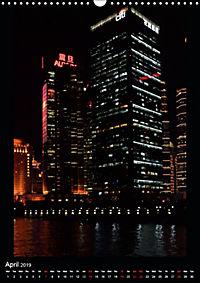 Shanghai Lujiazui Night Skyline (Wall Calendar 2019 DIN A3 Portrait) - Produktdetailbild 4