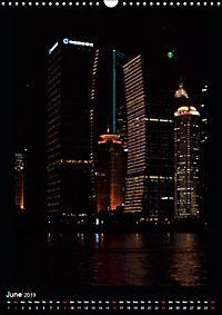 Shanghai Lujiazui Night Skyline (Wall Calendar 2019 DIN A3 Portrait) - Produktdetailbild 6