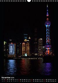 Shanghai Lujiazui Night Skyline (Wall Calendar 2019 DIN A3 Portrait) - Produktdetailbild 11