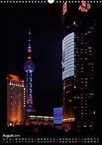 Shanghai Lujiazui Night Skyline (Wall Calendar 2019 DIN A3 Portrait) - Produktdetailbild 8