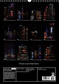 Shanghai Lujiazui Night Skyline (Wall Calendar 2019 DIN A3 Portrait) - Produktdetailbild 13