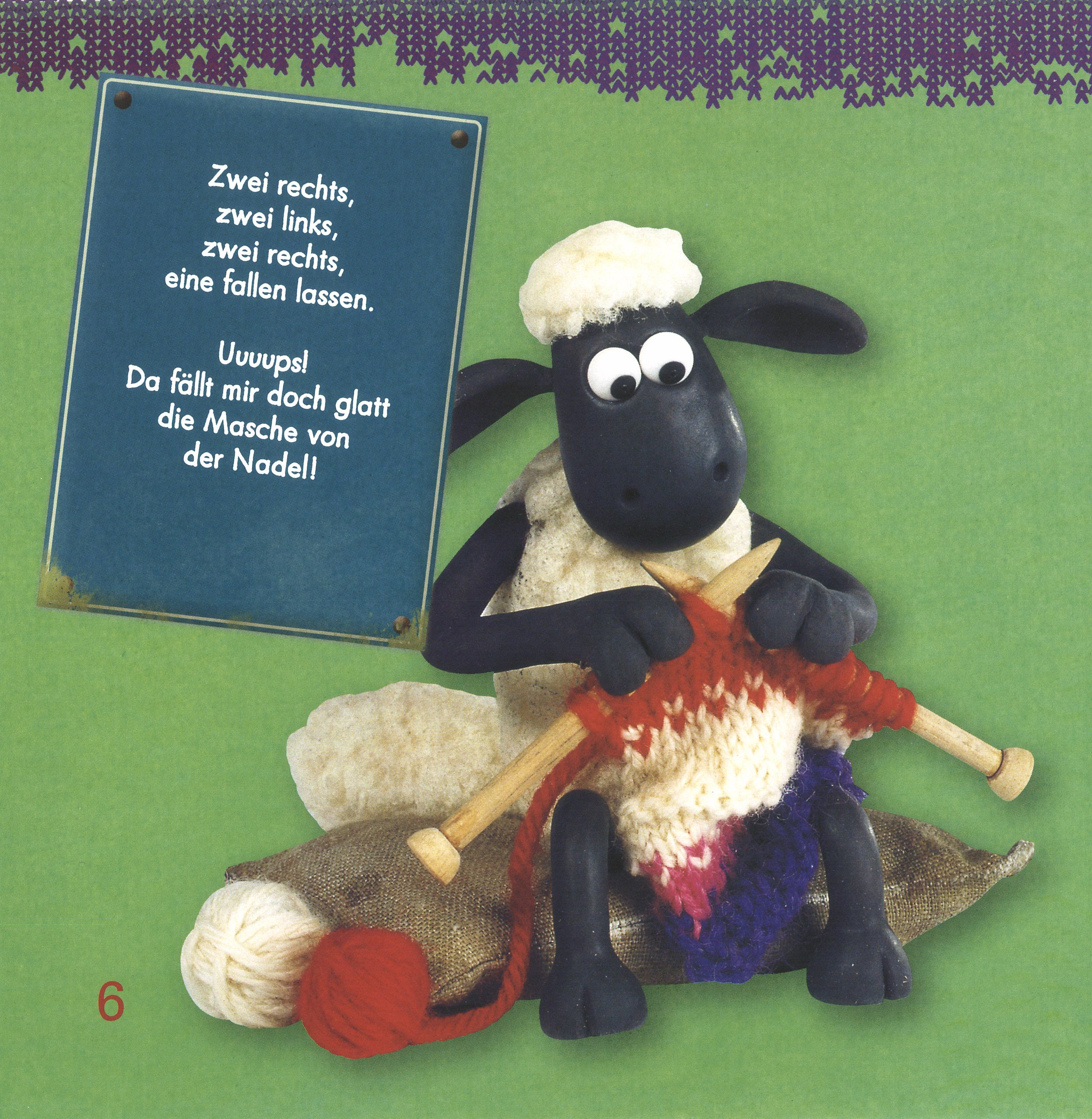 Shaun Das Schaf Mein Strickbuch Mit 2 Rundstricknadeln Buch