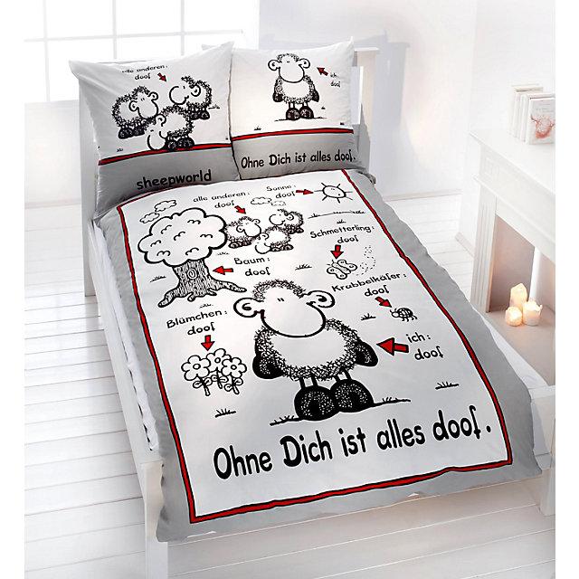 Sheepworld Decke Ohne Dich Ist Alles Doof.Sheepworld Bettwasche Ohne Dich Ist Alles Doof Grosse 135 X 200