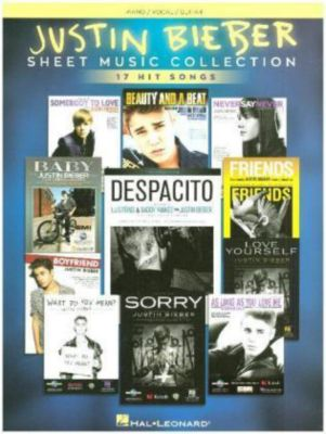 Sheet Music Collection, For Piano, Voice & Guitar, Justin Bieber