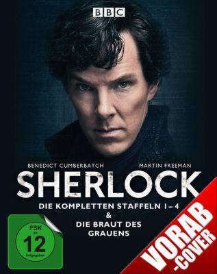 Sherlock - Die kompletten Staffeln 1-4 & Die Braut des Grauens Bluray Box, B. Cumberbatch, M. Freeman, M. Gatiss, L. Pulver