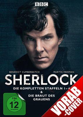 Sherlock - Die kompletten Staffeln 1-4 & Die Braut des Grauens DVD-Box, B. Cumberbatch, M. Freeman, M. Gatiss, L. Pulver