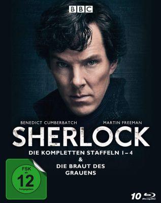 Sherlock - Die kompletten Staffeln 1-4 & Die Braut des Grauens, B. Cumberbatch, M. Freeman, M. Gatiss, L. Pulver
