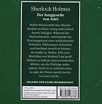 Sherlock Holmes, Der Junggeselle von Adel, 1 Audio-CD - Produktdetailbild 1