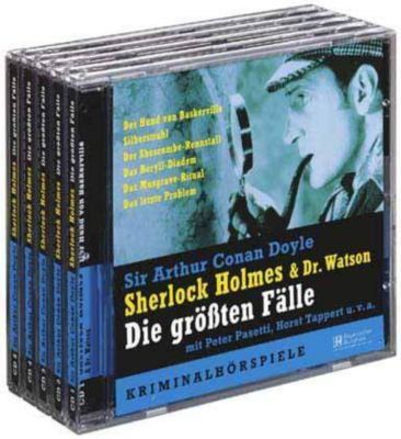 Sherlock Holmes & Dr. Watson, Die größten Fälle, 5 Audio-CDs, Arthur Conan Doyle