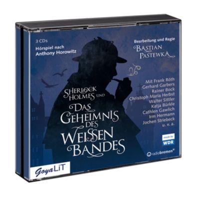 Sherlock Holmes und das Geheimnis des weißen Bandes, 3 Audio-CDs, Anthony Horowitz