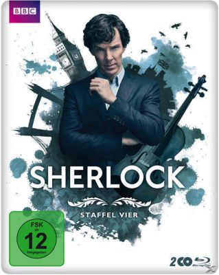Sherlock - Staffel 4 Steelbook, Benedict Cumberbatch, Martin Freeman