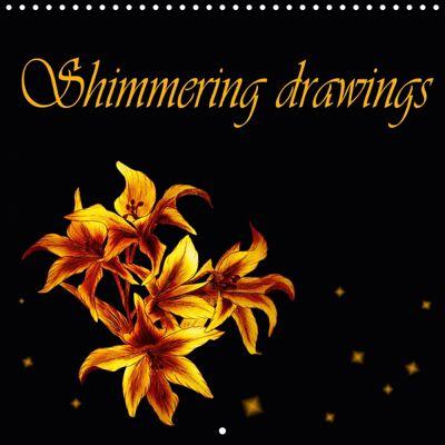 Shimmering drawings (Wall Calendar 2019 300 × 300 mm Square), Dusanka Djeric