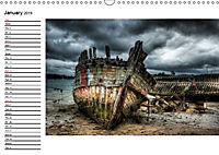 Ships and wrecks (Wall Calendar 2019 DIN A3 Landscape) - Produktdetailbild 1