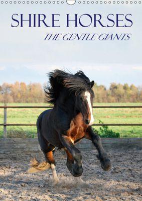 Shire Horses The Gentle Giants (Wall Calendar 2019 DIN A3 Portrait), Liesbeth Wesdijk