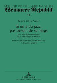 Si on a du jazz, pas besoin de schnaps, Pascale Cohen-Avenel