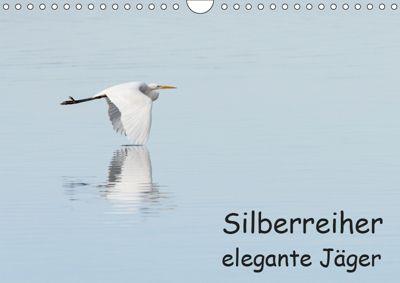 Silberreiher - elegante Jäger (Wandkalender 2019 DIN A4 quer), Thomas Alberer
