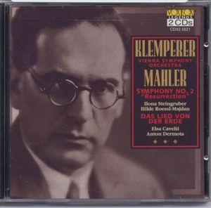 Sinfonie 2/Das Lied Von Der Erde, Dermota, Klemperer, Wiener Symph.