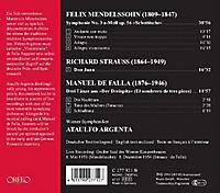 Sinfonie 3 A-Moll Op.56/Don Juan/Der Dreispitz - Produktdetailbild 1