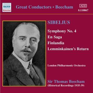 Sinfonie 4/En Saga/Finlan, Sir Thomas Beecham, Lpo