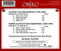 Sinfonie 8 F-Dur Op.93/Sinfonie 5 E-Moll Op.64 - Produktdetailbild 1