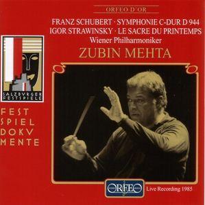 Sinfonie C-Dur D 944/Le Sacre Du Printemps, Mehta, Wp