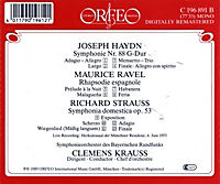 Sinfonie Hob.I:88/Rhapsodie Espagn./Sinf.Domestica - Produktdetailbild 1