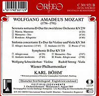 Sinfonie Kv 319/Serenata Kv 239/Concertante Kv 364 - Produktdetailbild 1
