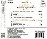 Sinfonie Nr. 1 op. 4 D-dur / Nr. 2 op. 15 B-dur - Produktdetailbild 1