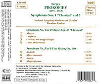 Sinfonien 1 & 5 - Produktdetailbild 1