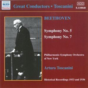 Sinfonien 5+7, Toscanini, Pso New York