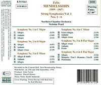 Sinfonien für Streicher Vol. 1 - Produktdetailbild 1