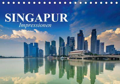 Singapur. Impressionen (Tischkalender 2019 DIN A5 quer), Elisabeth Stanzer