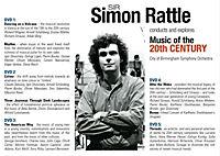 Sir Simon Rattle dirigiert und erkundet Musik des 20. Jahrhunderts DVD-Box - Produktdetailbild 1