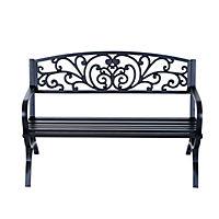 Sitzbank für 2 Personen (Farbe: schwarz, Größe: 127 x 60 x 85 cm (LxBxH)) - Produktdetailbild 1
