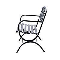 Sitzbank für 2 Personen (Farbe: schwarz, Größe: 127 x 60 x 85 cm (LxBxH)) - Produktdetailbild 2