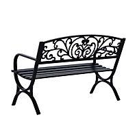 Sitzbank für 2 Personen (Farbe: schwarz, Größe: 127 x 60 x 85 cm (LxBxH)) - Produktdetailbild 3