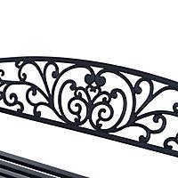 Sitzbank für 2 Personen (Farbe: schwarz, Größe: 127 x 60 x 85 cm (LxBxH)) - Produktdetailbild 4