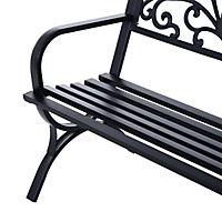 Sitzbank für 2 Personen (Farbe: schwarz, Größe: 127 x 60 x 85 cm (LxBxH)) - Produktdetailbild 5